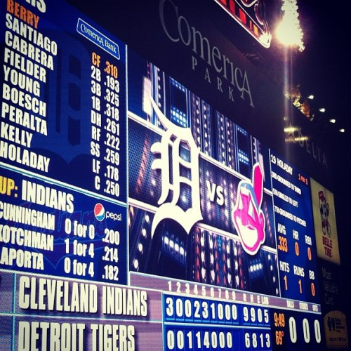 final score: 9-6 #Cleveland #Indians. #happy #pride #tkriii (Taken with instagram)