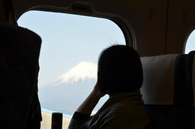 Mt. Fuji from the Shinkansen on Flickr. Quiet contemplation