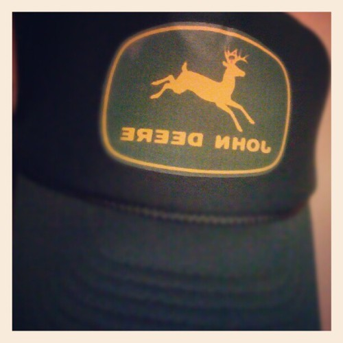 #hat #johndeere #photoadayJune #Day6 #tiltshift #Android  (Taken with instagram)