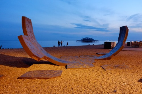 scavengedluxury:  Brighton Beach sunset. June 2012.