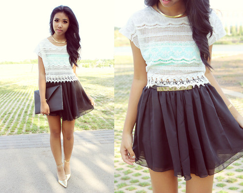 lookbookdotnu:  Crochet Top (by Sharena C.)