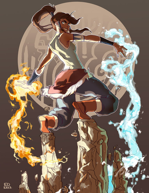 ghostgreen:  so i caved.  i couldn't help it, Korra rocks my world~  Sooo awesome <3 Love the coloring :D