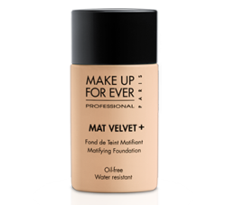 "Femme Fetch: Makeup Forever Mat Velvet Foundation Makeup Forever is one of the most versatile and quality driven brands in the vastly populated world of cosmetics. The Mat Velvet Foundation along with just about every other product from the line is proof of the amazing-ness that is Makeup Forever. I am super obsessed with matte/ semi-matte finishes especially for us oily femmes and this foundation gives the most natural and fresh finish ever. Liquid foundation formulas can be scary for many, particularly many of us with problem skin, but no worries when using this foundation.  I like applying it with fingers, a wet sponge, my Aveda foundation brush, or a duo fiber/stippling brush for the most natural finish. The foundation wears all day and helps control shine without looking too dry.  Mat Velvet is medium coverage with the ability to be built for more coverage if needed, though I feel that takes away from the purpose of the product.  I highly recommend this foundation to anyone looking for a good amount of coverage with ability to possibly pass the foundation off as ""good skin"". If you want something even lighter and more sheer try the Makeup Forever Face and Body Foundation."