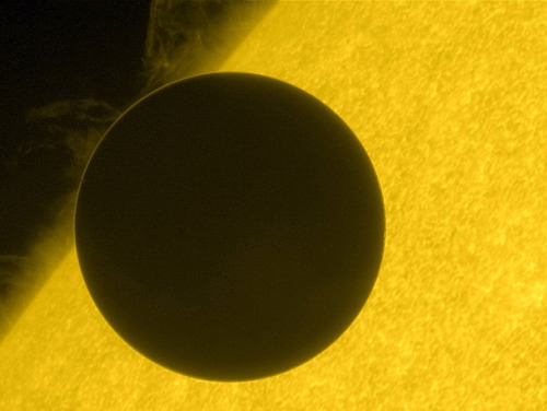 Venus, transiting the sun.