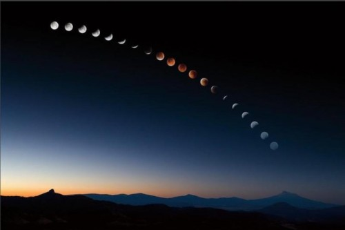 elegantbuffalo:  Lunar Eclipse (Photo by Sean Bagshaw)