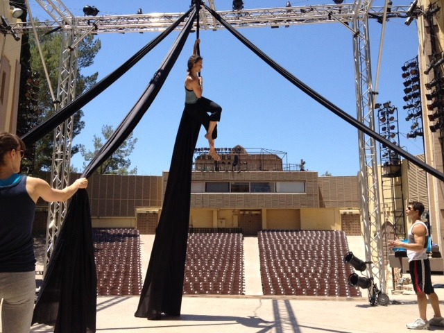 Today at the Ford Amphitheatre… 2 days til show time!  Photo by Malia Miyahsiro-Harmon