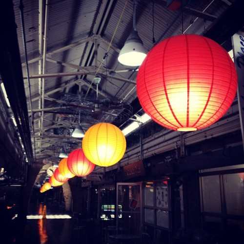 Chelsea Market at night.  (Taken with instagram)