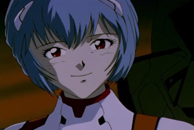 Rei: I don't know what to do or feel at a time like this. Shinji: Why don't you try smiling?