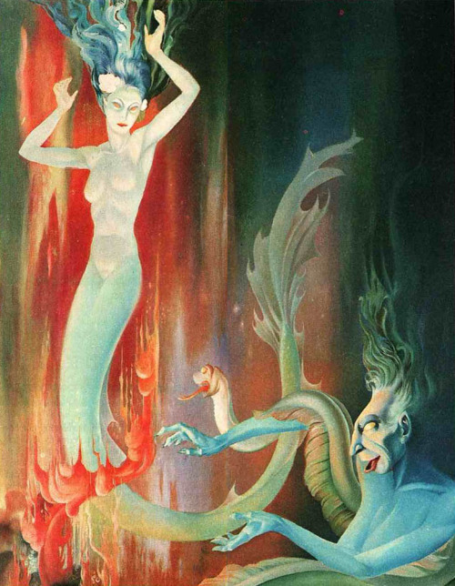 Concept art by Nino Carbé for The Little Mermaid.