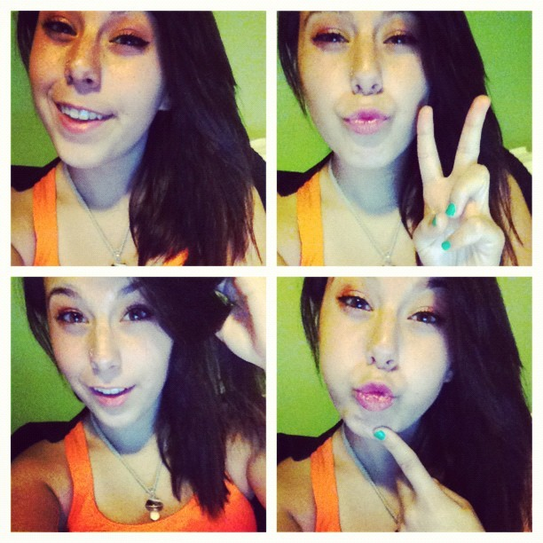Selfies waiting on @mateospence to Skype me#picstitch (Taken with instagram)