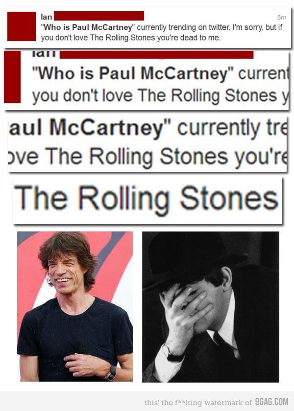 thebeatlesordie:  sgtpeppersrevolver:  This FAIL is so epic Paul had to facepalm   I feel embarrassed for that person