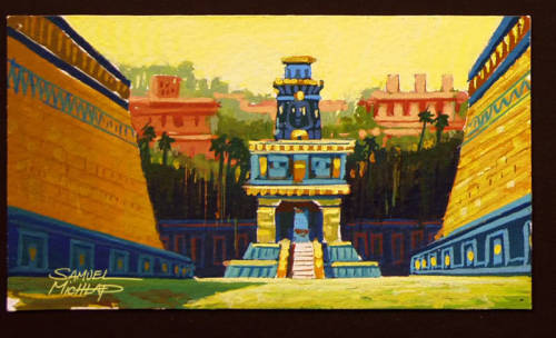 The ball court - The Road to Eldorado background concept.
