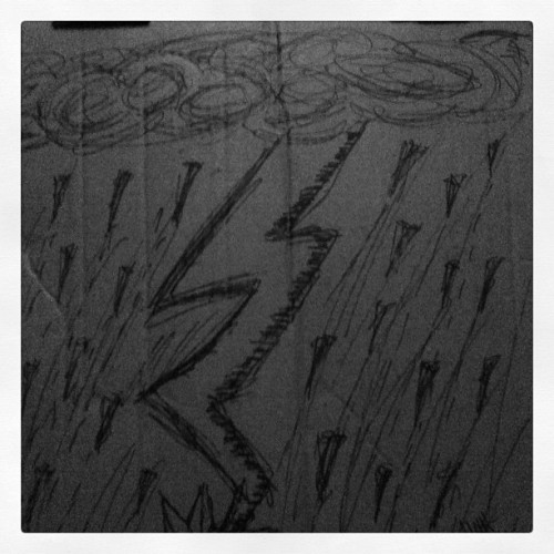 What I draw on the back of the pizza box.  (Taken with instagram)