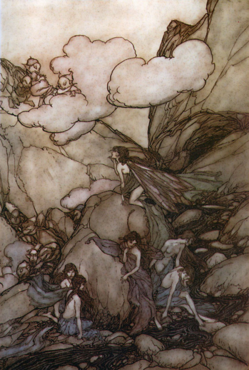amseln:  Arthur Rackham(illustration from Washington Irving's Rip Van Winkle)