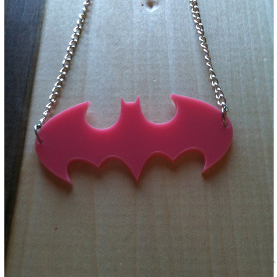 Like the Batfamily? You'll love this. Available as necklaces, rings, barrettes and more from Figure8Knits Etsy shop!