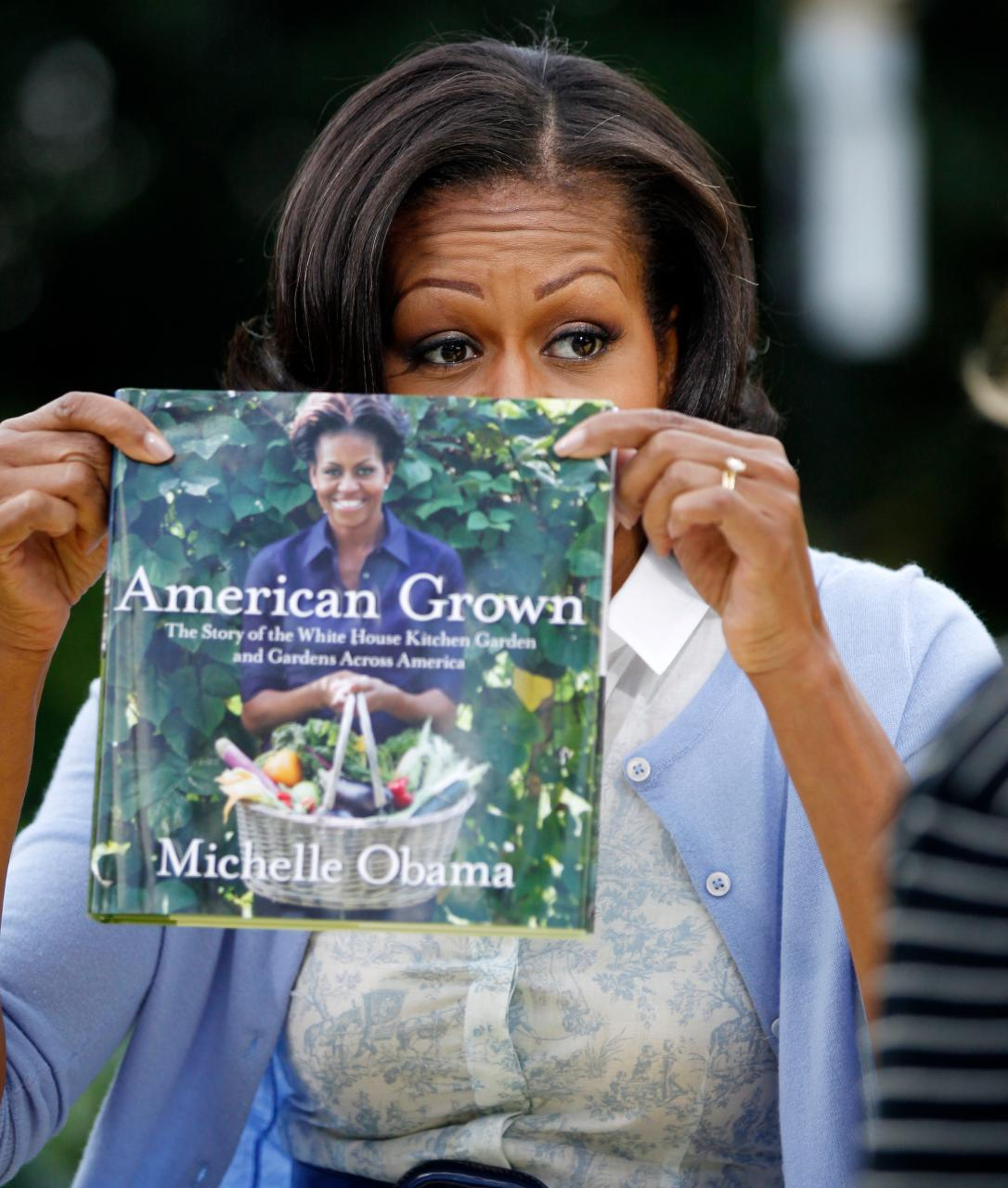 cardigirl:  Cardi Girl: Michelle ObamaTwo more photos of Mrs. O from her AP interview. Photos: AP Photo/Charles Dharapak    michelle Obama I adore her