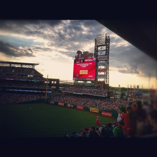 A loss but that's okay—beautiful night. 🌅⚾ #phillies (Taken with Instagram at Citizens Bank Park)