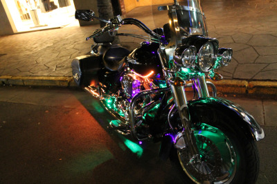 MOTORBIKE WITH NEON LIGHTS, HAWAII
