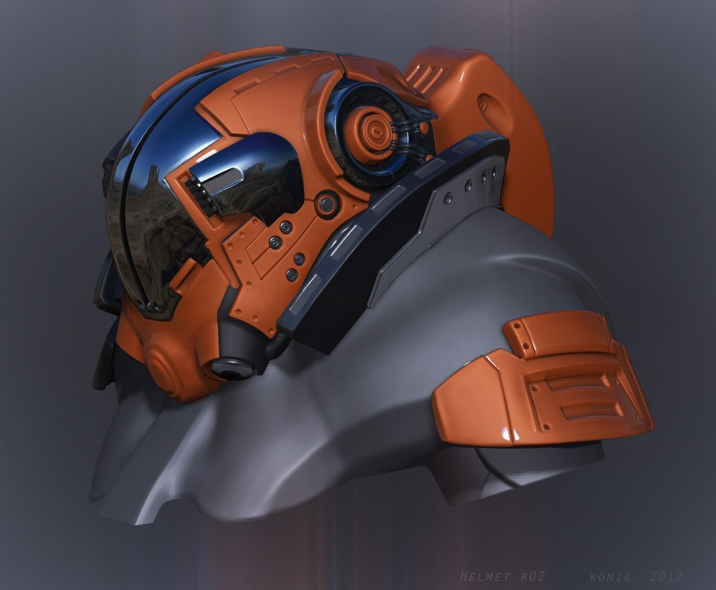 orange helmet by peterhkonig - Peter Konig - CGHUB