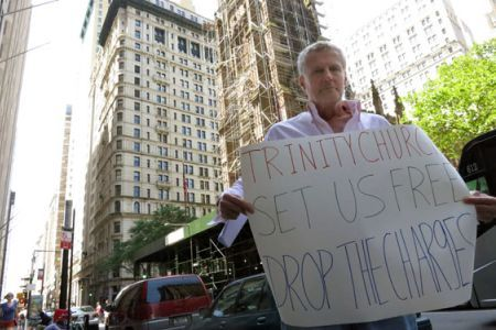 thepeoplesrecord:  June 06, 2012 HIV-positive Occupy Wall Street protester Jack Boyle has gone on hunger/medicine strike to protest trespassing charges against activists who were arrested at New York's Trinity Church on December 17, 2011. This means he will withhold from eating and taking medicine that is vital to his health.