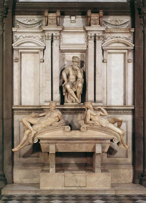 Michelangelo, Tomb of Lorenzo de' Medici, 1531.