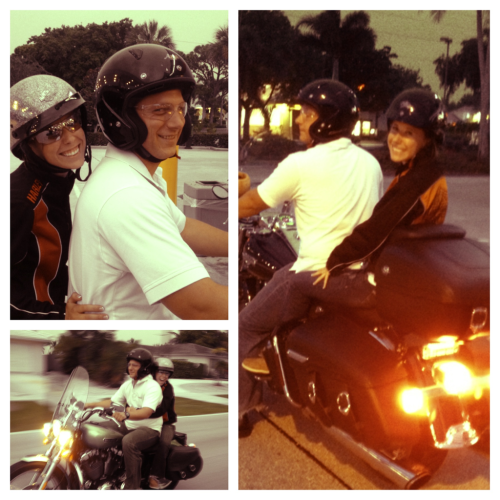 Yay my first motorcycle ride (: