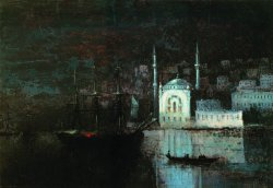 Ivan Aivazovsky, Night Constantinople, 1886