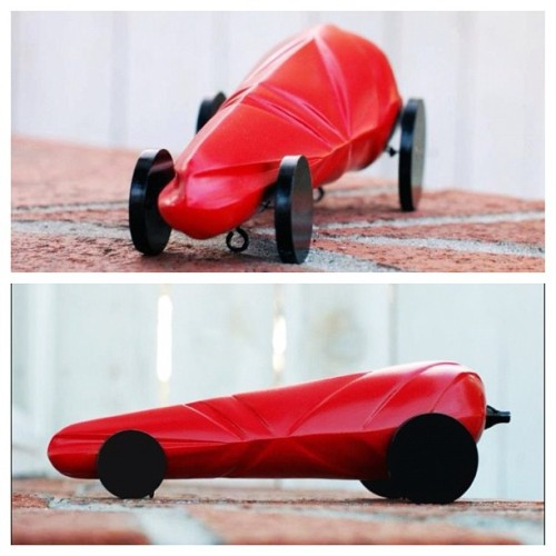 "Project 4: ""Red Hot"" - Rocket Car. #sjsu #industrialdesign #id #design #student #nofilter #rocketcar #car (Taken with instagram)"
