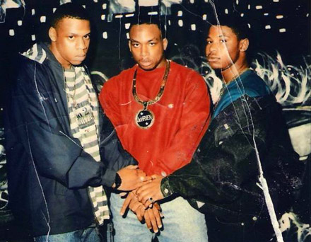 aintnojigga:  Shawn Carter's original dope dealing crew. Jay-Z, De-Haven Irby, and Jay's cousin Emory Jones. Jay helped cocaine trafficker Emory get released from prison 37 months early on a 16 year bid, by agreeing to make him his executive assistant at Rocawear.