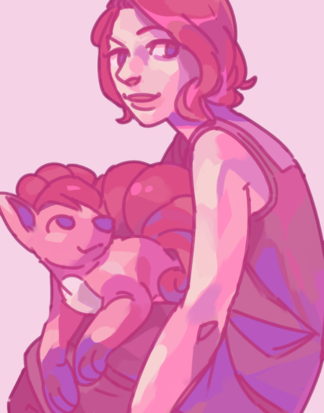 "bananasandguavas:  natasha and vulpix suggested by grace. ""foxy, red and fluffy""!"