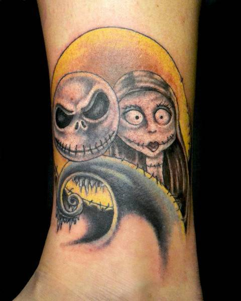 Here's a photo of my Jack and Sally tattoo I got done back in January. I absolutely love it! Done by Oscar Zornosa at All or Nothing Tattoo in Smyrna, GA.