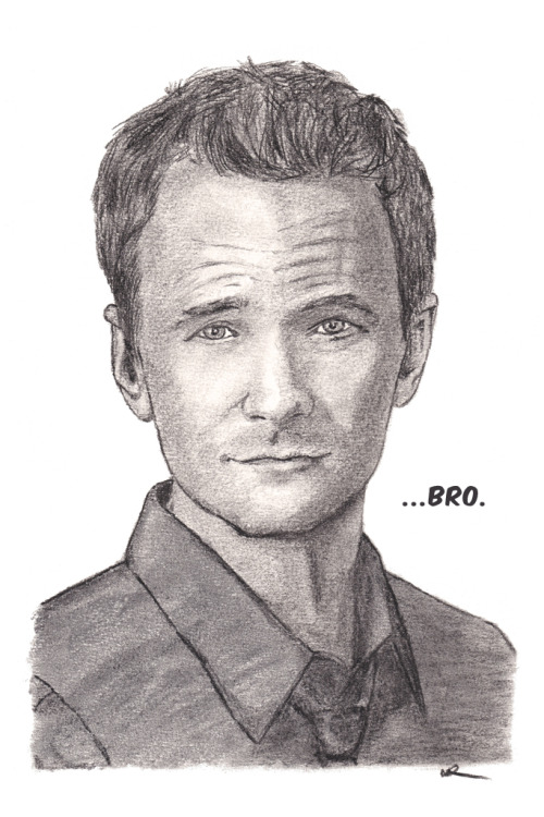 Barney Stinson (Neil Patrick Harris). Medium charcoal pencil and medium willow vine charcoal. Prints:http://dpart.smugmug.com/buy/23178382_7KPf8K/1891178903_NCfXdjL/