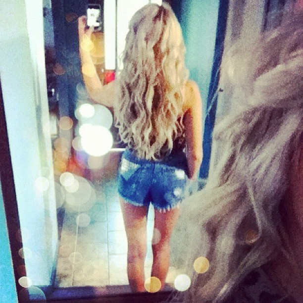 Long hair, don't care!! Feat. @omeneye shorts :)  (Taken with instagram)