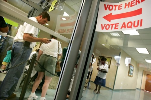 "Florida GOP Takes Voter Suppression to a Brazen New Extreme ""Imagine this: a Republican governor in a crucial battleground state instructs his secretary of state to purge the voting rolls of hundreds of thousands of allegedly ineligible voters. The move disenfranchises thousands of legally registered voters, who happen to be overwhelmingly black and Hispanic Democrats. The number of voters prevented from casting a ballot exceeds the margin of victory in the razor-thin election, which ends up determining the next President of the United States…""Read more: http://www.rollingstone.com/politics/blogs/national-affairs/florida-gop-takes-voter-supression-to-a-brazen-new-extreme-20120530"