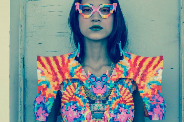 cafcaf:  Childhood Perler Beads Get A High Fashion Makeover