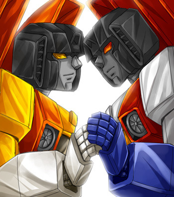 tf-fanart:  Sunstorm and Starscream by ~mucun