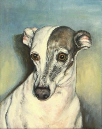 Italian Greyhound oil painting by Debra Sisson
