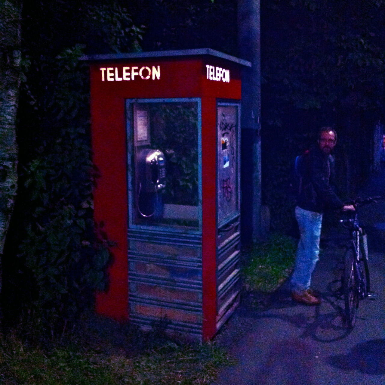 The last phone booth in Oslo.