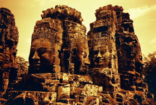 Faces at the Bayon.