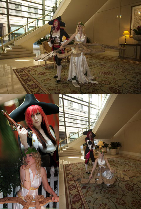 Muse Sona and Miss Fortune Cosplays @ Fanime 2012
