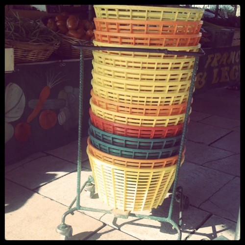 I've never seen these veggie baskets at the Parisien marchés. (Taken with instagram)