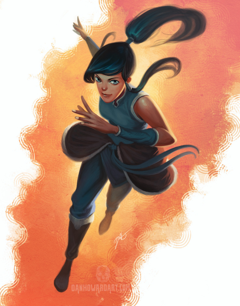 danhoward:  Korra.  Carrying on with style experimentation.  Photoshop http://www.danhowardart.com Commissions are open, too, for those interested.  You do not need to be on DA to partake.:   http://danhowardart.deviantart.com/journal/Commissions-open-again-305754443  Woot Korra & Comissions! :3