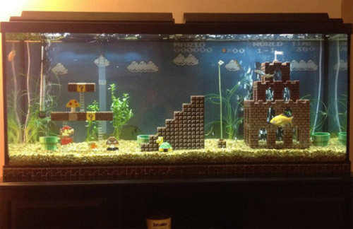(via Obvious Winner - Amazing Super Mario Bros Aquarium Setup Displays Level 1-1 in LEGO)