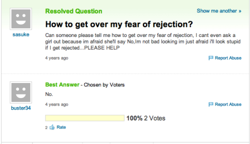 trollfacecomic:  Fear of rejection