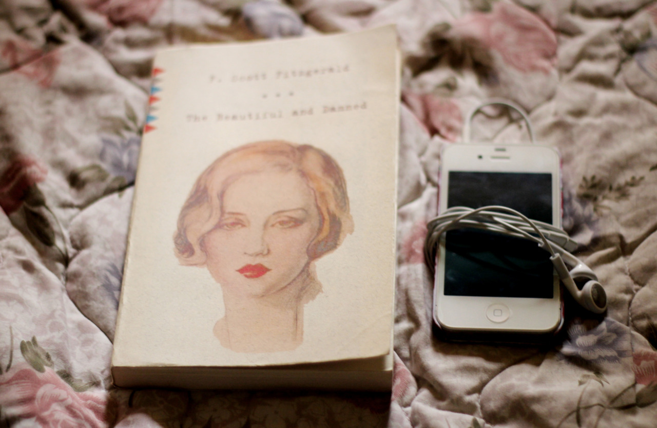 Spent the day reading and listening to F. Scott Fitzgerald's The Beautiful and Damned. I read the book before but I stopped because I was having difficulty concentrating on it. I decided to give it another try, this time listening to an audiobook copy while reading. The pacing is quite slow for me but it's nice, listening to audiobooks for a change.