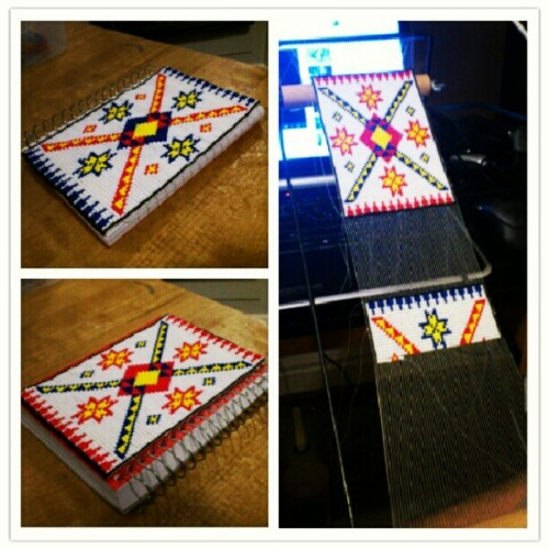 Beaded book is coming along #seedbead #seedbeads #handmade #nativebeadwork #native #nativeamerican #aboriginal #firstnation #beadwork #beading (Taken with instagram)