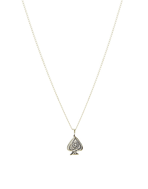 "Laura Lee Sterling Silver Small Spade Playing Card Symbol Pendant Necklace On 16"" ChainMore photos & another fashion brands: bit.ly/LttVZd"