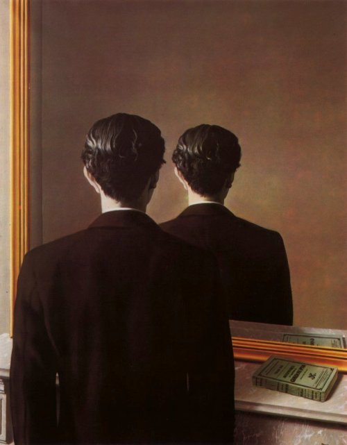 easymomentsandobsession:  La Reproduction Interdite (1937), Rene Magritte