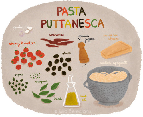 Pasta Puttanesca (via Juliabe)