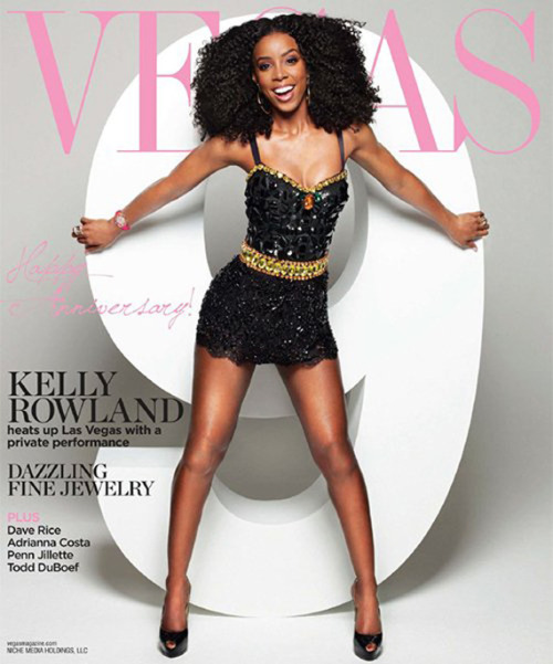 Kelly Rowland on the cover of Vegas Magazine